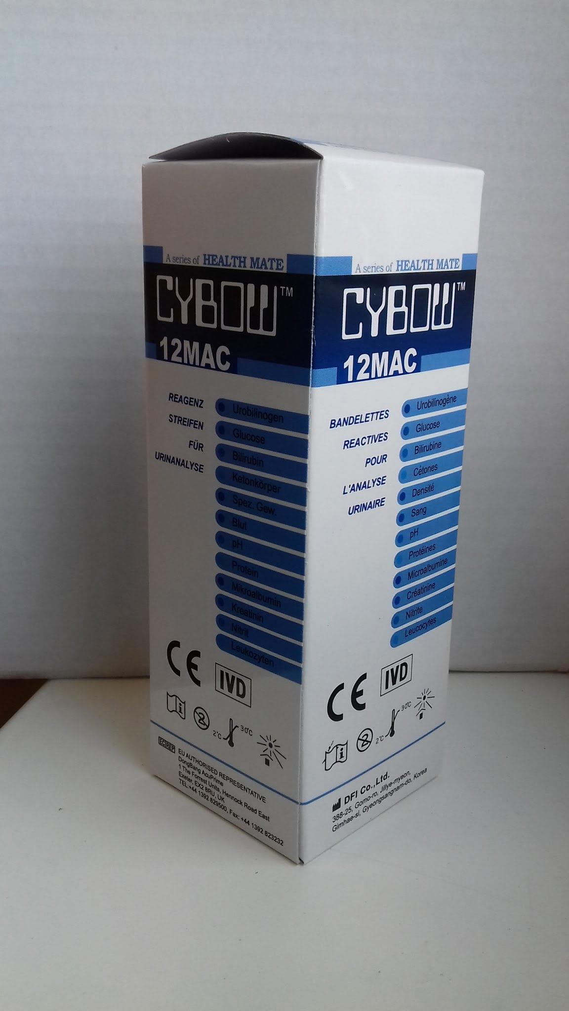 12MAC vizeletvizsgáló tesztcsík 100 db-os