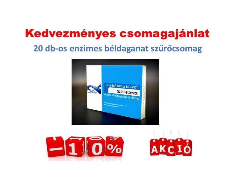 Enzimes béldaganatszűrő székletteszt akciós csomagban 20 db (ScheBo® Tumor M2-PK™)