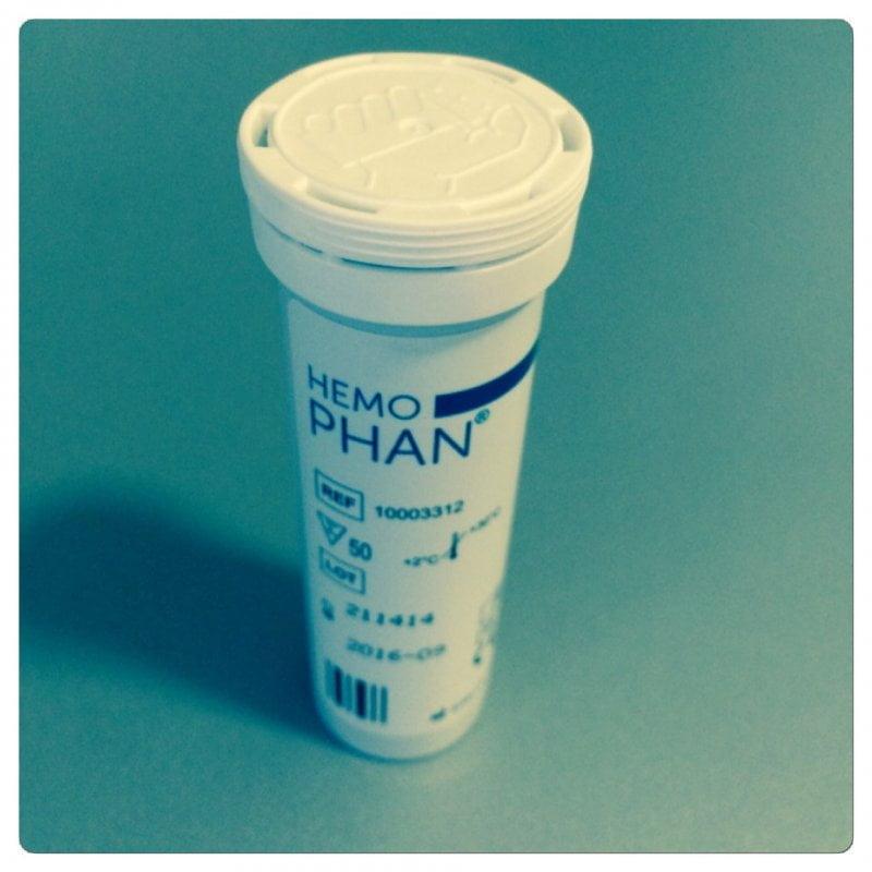 HemoPhan vizelettesztcsík (50 db)