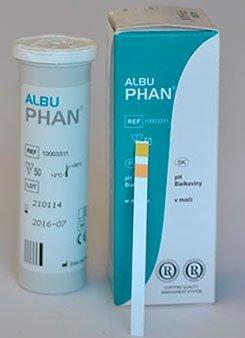 2 komponensű vizelettesztcsík AlbuPhan (50 db)
