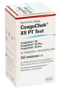 CoaguChek XS PT Test (CoaguChek XS készülékhez) 24 tesztcsík/doboz