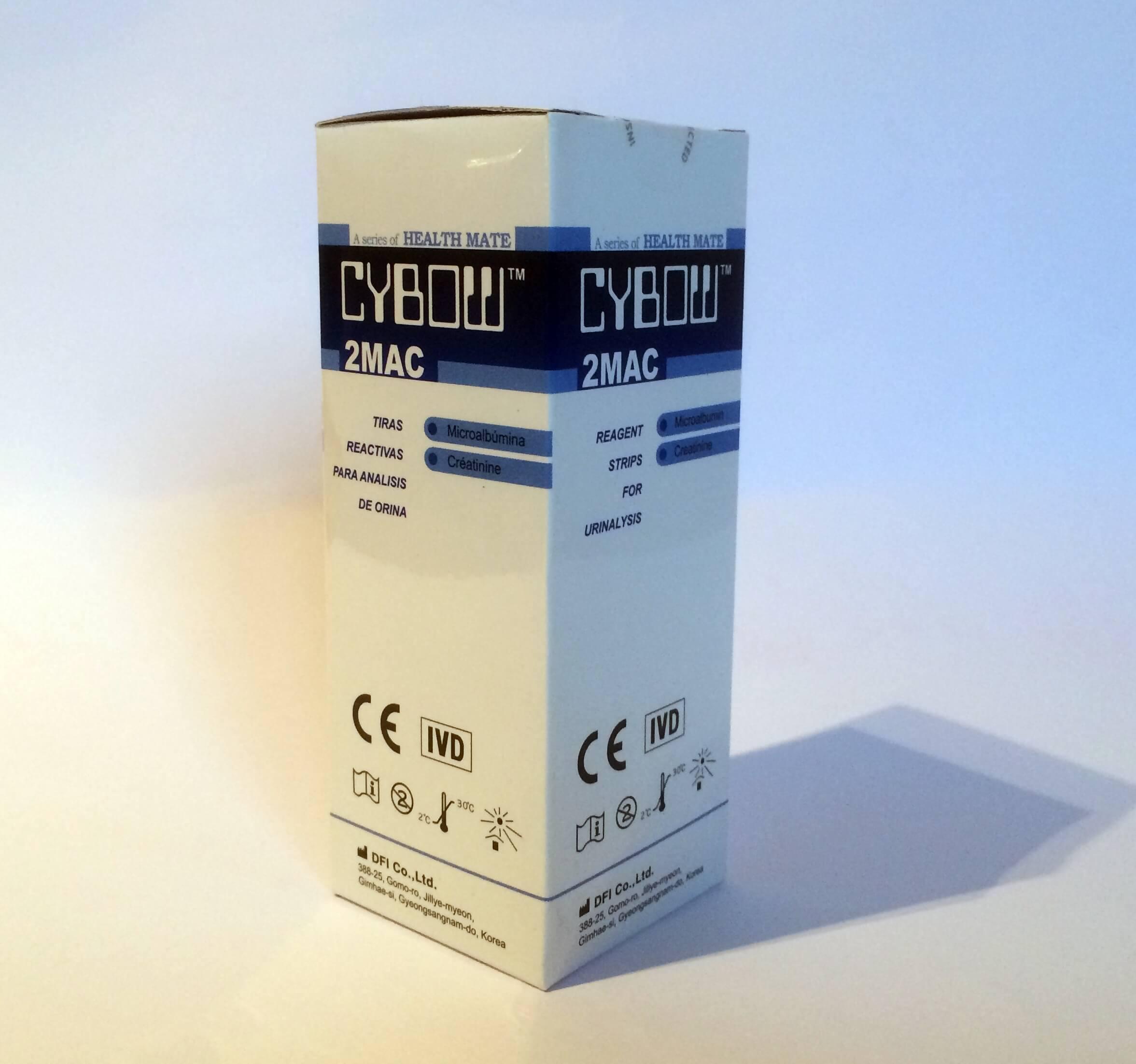 2MAC vizeletvizsgáló tesztcsík 100 db-os