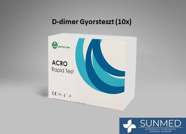 D-dimer gyorsteszt (10 db teszt/doboz)