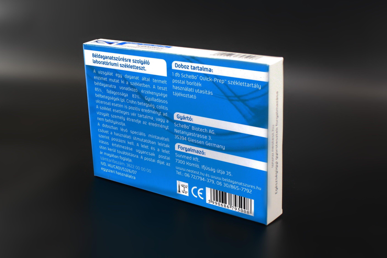 Enzimes béldaganatszűrő székletteszt ScheBo®• Tumor M2-PK