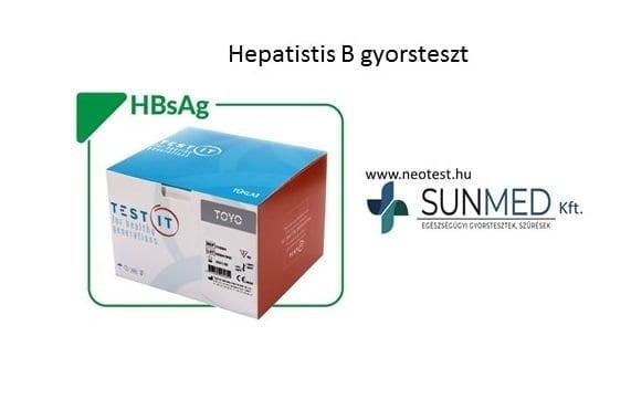 Hepatitis-B (HBsAg gyorsteszt) 40 teszt/doboz