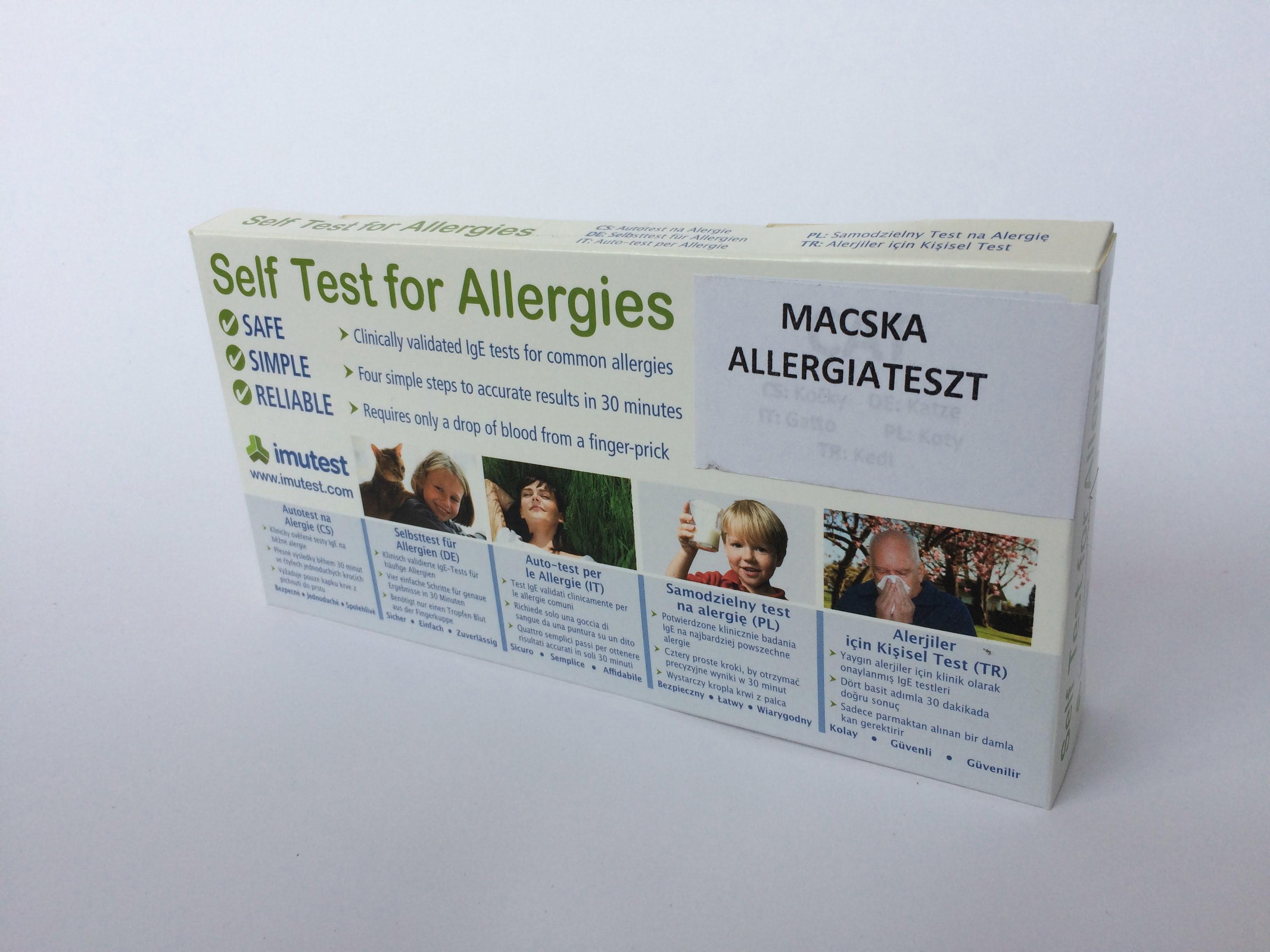 Macska allergiateszt otthoni felhasználásra