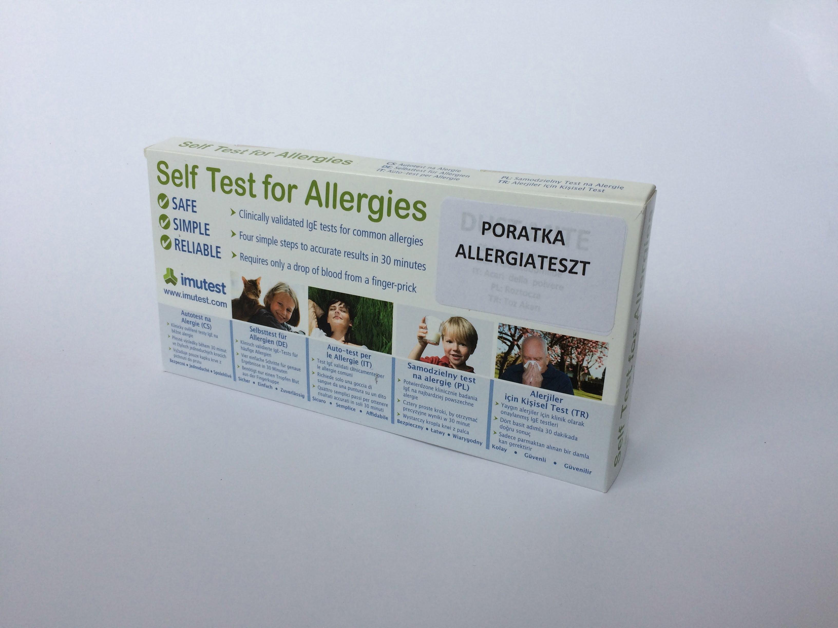 Poratka allergia gyorsteszt otthoni felhasználásra