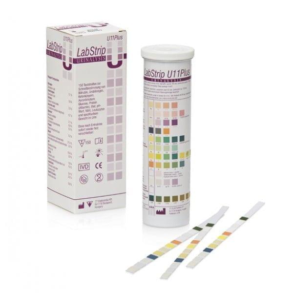 LabStrip vizelet tesztcsík (150x) Docureader2 vagy LabUMat analizáló készülékekh
