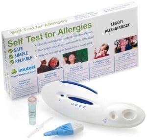 Légúti allergia gyorsteszt IgE otthoni használatra (macskaszőr, fűpollen, poratka vizsgálatához)