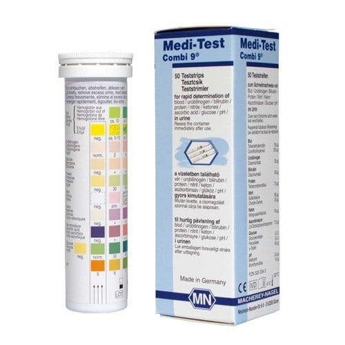 Medi-Test Combi 9 komponensű vizeletvizsgáló tesztcsík 100 db-os