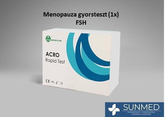 Menopauza (FSH) vizeletvizsgáló tesztcsík (1 db) ACRO