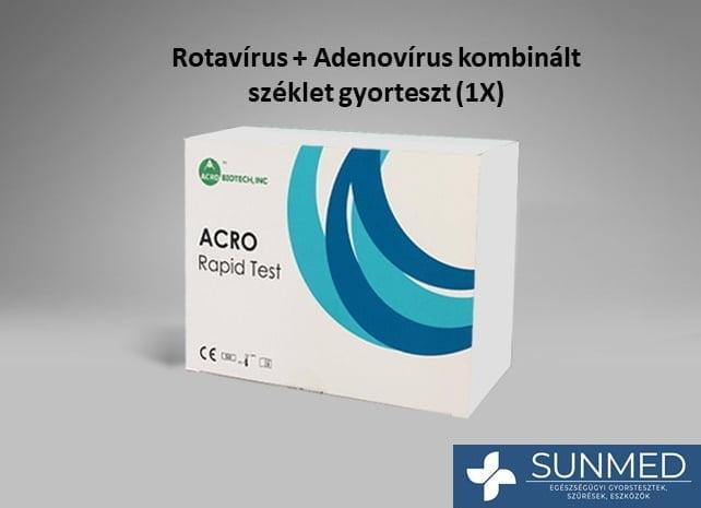 Rotavírus + Adenovírus kombinált gyorsteszt (1 db)