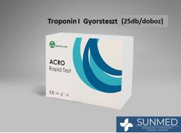"Troponin I ""Szívizom"" gyorsteszt (25 db/1 doboz)"