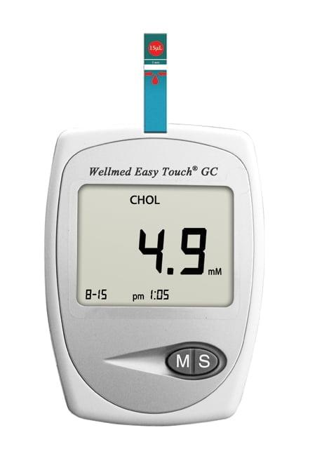 Vércukor és koleszterinszint mérő készülék, Wellmed EasyTouch GC